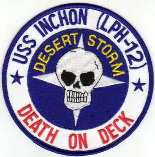 US NAVY USS Inchon (LPH 12) Patch From Desert Storm