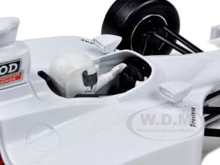 scale diecast model car of 2011 blank white autograph indy car model