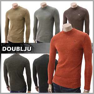 lighter Mens Casual Knitted Turtleneck Sweater Shirt (DA14)