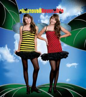 Fully reversible Bumble Bee/Lady Bug stretch knit dress with removable