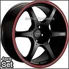 17 wheels &Tires*Tenzo DC6(Black Red Ring Rims Lexus)