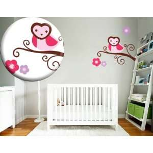 Kids Tree Branch Vinyl Wall Decal Heart Face Owl and