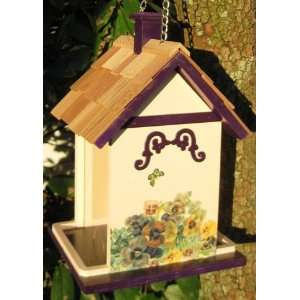 Cottage Butterfly Hanging Wild Bird Seed Feeder Patio, Lawn & Garden