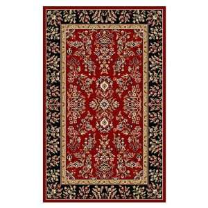 Safavieh Square Area Rug, 8 Feet, Red and Black