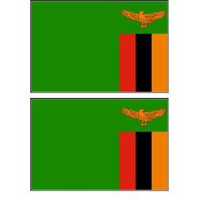 Zambian Flag Stickers Decal Bumper Window Laptop Phone Auto Boat Wall