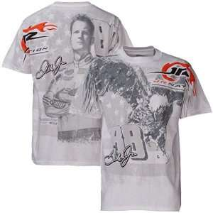 Dale Earnhardt Jr. White Big Time Graphic T shirt Sports