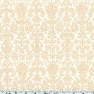 Wide Love Song Damask Cream Fabric By The Yard Arts, Crafts & Sewing