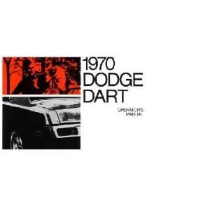 1970 DODGE DART Owners Manual User Guide Automotive