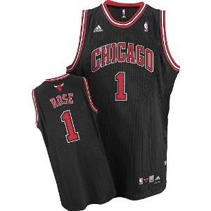 Derrick Rose #1 Chicago Bulls Swingman NBA Jersey Black