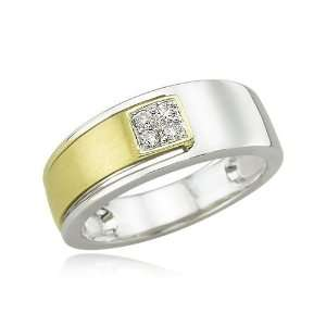 14K Two Tone Gold Womens Diamond Wedding Ring Diamond quality AA (I1