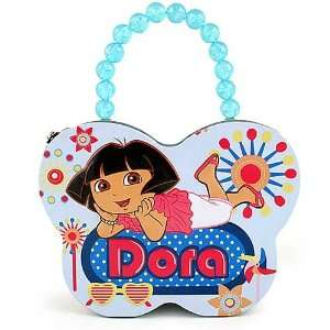 Dora the Explorer Butterfly Tin Purse / Lunch Box [Baby Blue]  Toys