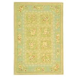 Safavieh French Tapis FT211B Sand and Green Country 6 x 6 Area Rug