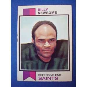 1973 Topps Football Trading Card New Orleans Saints Billy Newsome #218