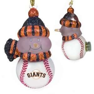 San Francisco Giants MLB All Star Light Up Acrylic Snowman