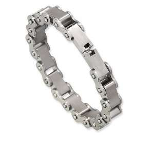 Mens Biker Chain Link Stainless Steel Band Bracelet Jewelry
