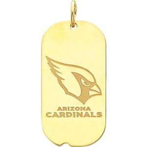 14K Gold NFL Arizona Cardinals Logo Dog Tag Charm  Sports