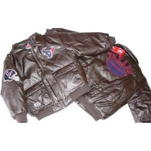 NFL Houston Texans Bomber Youth Pleather Jacket Sports
