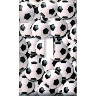 Sports Soccer Balls Switch Plate   Single Toggle