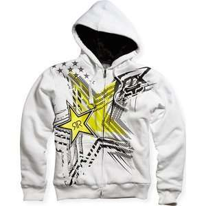 Fox Racing Rockstar Showcase Sasquatch Zip Hoody Sweatshirt White