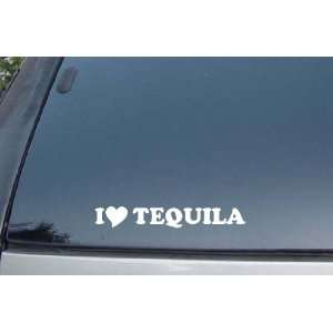 I Love Tequila Vinyl Decal Stickers