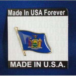 New York State Flag Pin Made in USA Patio, Lawn & Garden