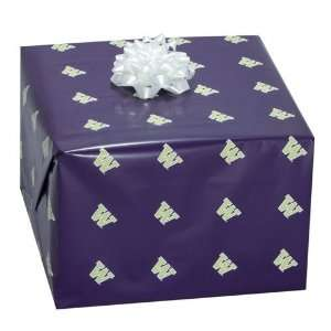 Washington Huskies Purple Logo Gift Wrap Paper