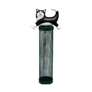 Bird Feeder Tube Cat Leaping Black / White (Bird Feeders