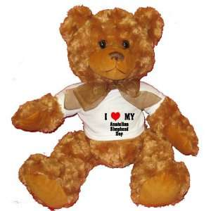 I Love/Heart Anatolian Shepherd Dog Plush Teddy Bear with