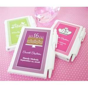 Sweet Sixteen (or 15) Personalized Notebooks   Baby Shower Gifts