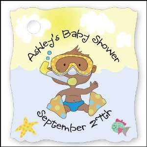 Me African American   20 Personalized Baby Shower Die Cut Card Stock