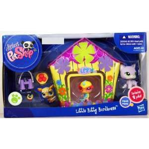 Littlest Pet Shop LPS Little Bitty Birdhouse Playset Includes 2 Pets