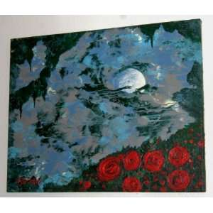 MODERN ART PAINTING ENTITLED MOONLIGHT SERENADE