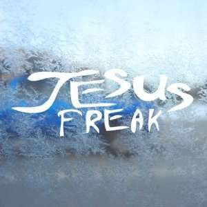 JESUS FREAK White Decal Car Laptop Window Vinyl White