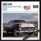 1955 FORD FAIRLANE CROWN VICTORIA Car PICTURE SPEC CARD
