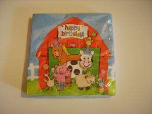 Farm barn animal party supplies Napkins and more NEW