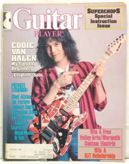 GUITAR PLAYER MAGAZINE EDDIE VAN HALEN CHET ATKINS TAL FARLOW JOHNNY