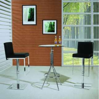 Design USA Adjustable Air Lift Bar Stool in Black Furniture