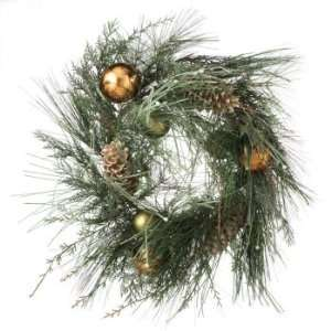 26.5 Pre Decorated Artificial Christmas Wreath with Pine