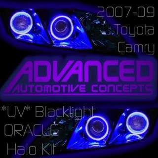 UV 07 09 Toyota Camry Headlight HALOs Kit Demon Eye Kit