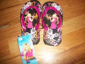 HANNAH MONTANA SANDALS FLIP FLOP DISNEY W TAGS XL 4 5