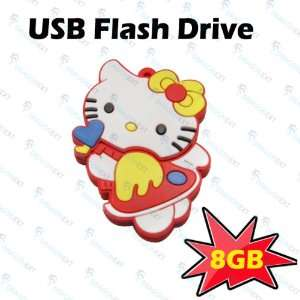 Hello Kitty Cat Cartoon 8GB USB Drive Flash Memory Stick