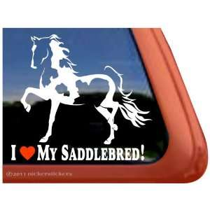 SADDLEBRED ~ Pinto Saddlebred Horse Trailer Vinyl Window Decal Sticker