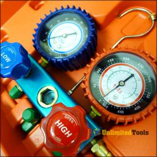 R22 AC A/C Manifold Gauge Set 6FT Colored Hose Air Conditioner Freon
