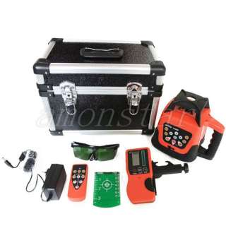 Self level Rotary green Laser Level+Tripod+staff m
